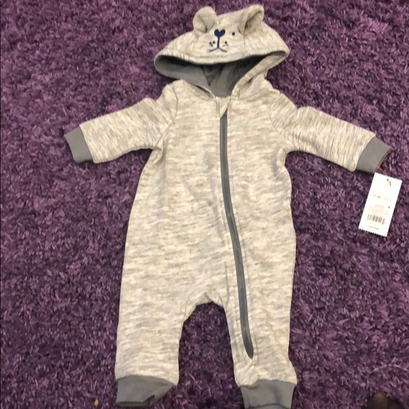 Cat & Jack Other - Baby Cat and Jack Grey Heather Romper NWT Sz 0-3M
